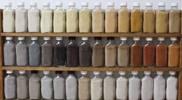 coloured sand bottles