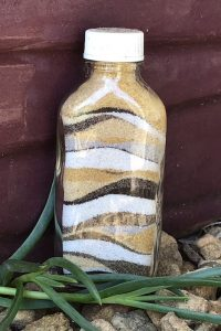 coloured sand bottle
